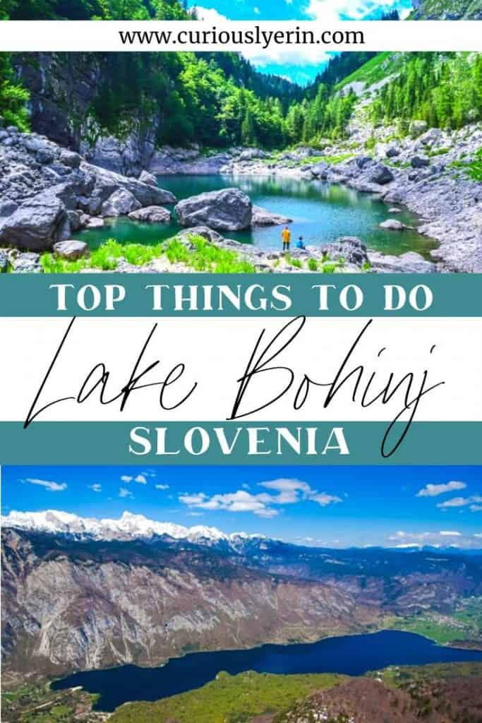 Here are the top things to do in Bohinj. Discover the Julian Alps and Triglav National Park from your base of Lake Bohinj. Ensure you hike the black lake and visit Savica Waterfall #travelslovenia #lakebohinj #bohinjslovenia