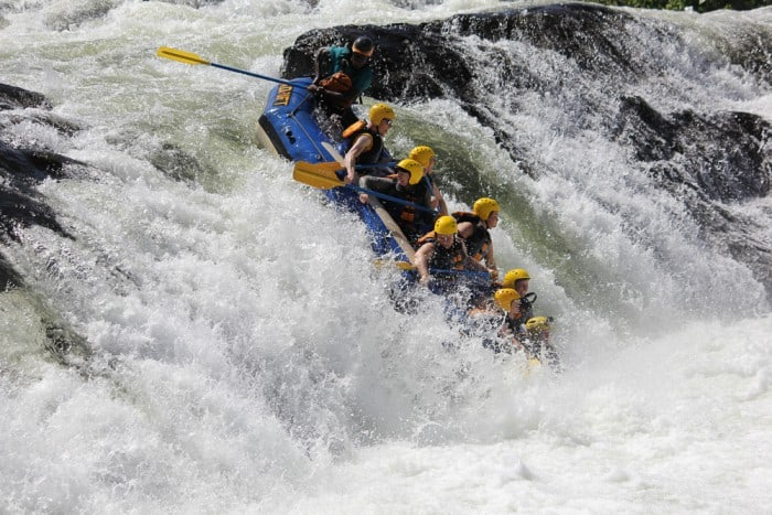 White water rafting on the Nile River is all part of the job