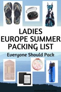 Are you wondering what things to pack for Europe in summer? This Europe summer packing list for ladies will be the only resource you need. Packing tips, packing hacks, the best travel clothing, accessories and more. Download your FREE Europe trip packing list with it. #packinglists #europe #traveltips