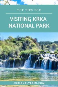 Find out why you need to visit Krka National Park to your Croatia itinerary - I share all of the important information for planning a trip to the Krka waterfalls including how to get there, tours, accommodation, driving instructions, entrance information and more. #krka #nationalpark #croatia #europe #waterfalls #krkafalls #croatiatravel #outdooradventure #swimming