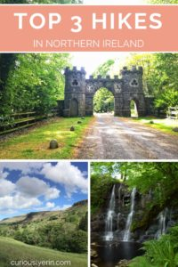 the top 3 short hikes in Northern Ireland. These hikes are perfect if you are short on time on energy. Hike through a Game of Thrones filming location, hike near Belfast with views over the city and wander through waterfall way #northernireland #hiking #europe