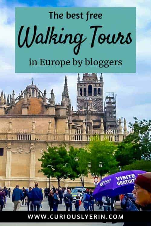 The best free walking tours in Europe as per other bloggers. Find out which are the best walking tours in Europe and the UK for your next trip. When you travel Europe doing a free walking tour is a great budget travel tip which helps save you money, will help orientate yourself in the city and teach you about the history and culture of a place. #Europe #EuropeTours #Walkingtourseurope #budgettravel