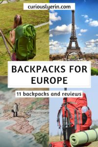 Planning on #backpacking through #Europe? This guide will help you choose the best #backpack for Europe. From choosing a carry-on sized bag, camera gear specific backpack or one for hiking, this guide includes 11 reviews of the top backpacks for travelling Europe #packing #bestbackpacks