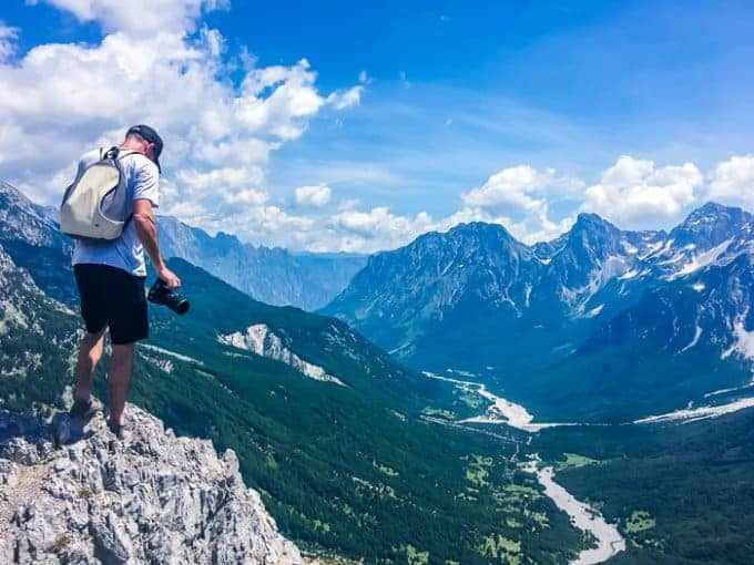 Hiking views over Valbona