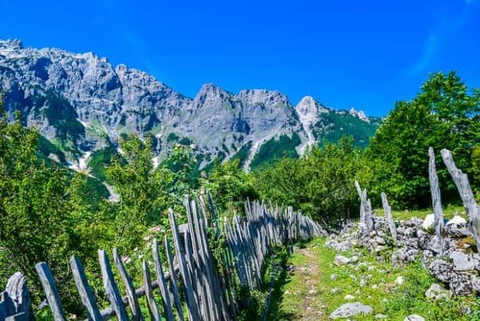Hiking trails in Albania
