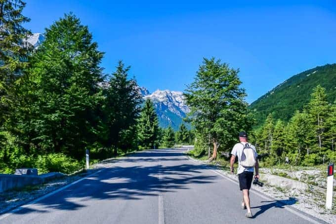Starting the hike in Valbona