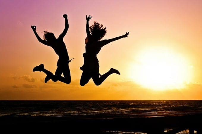 Jumping for joy. Remember why you love travelling