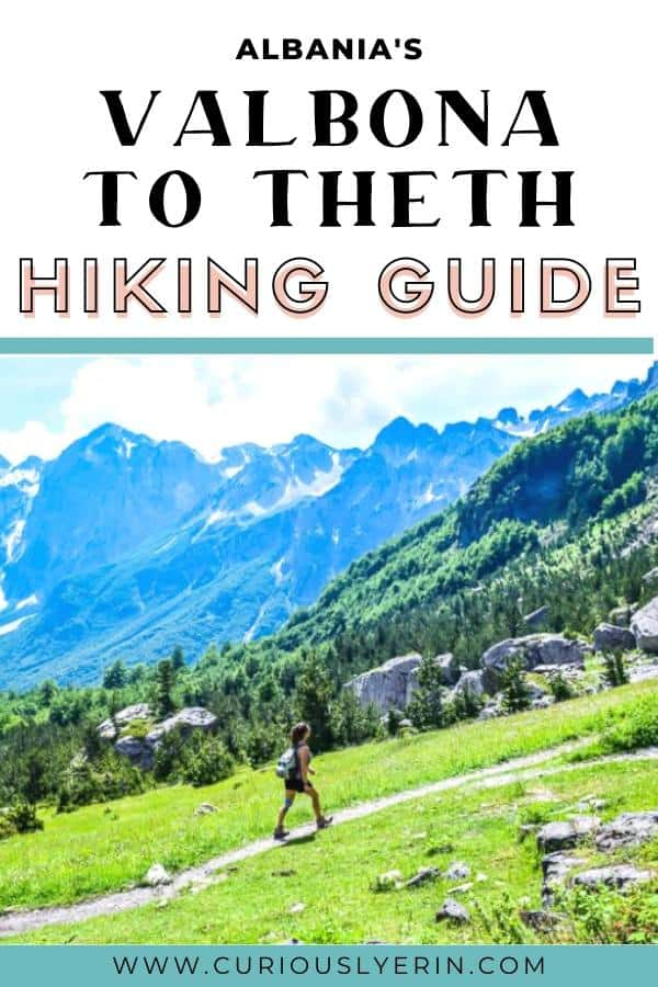 The best hike for backpacking Albania. A great day hike in Albania in the Accursed Mountains. Click for the complete guide on the loop from Shkoder to Valbona to Theth and back to Shkoder. #Accursedmountains #Travelalbania #hikealbania #Shkoder
