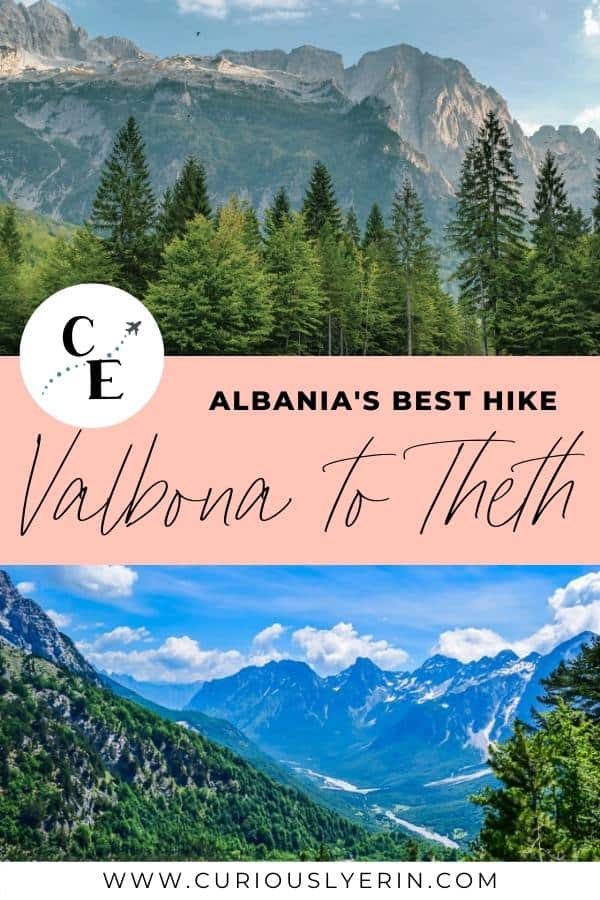 Tips for Albania's top hiking route - The Valbona to Theth trail. Information on the loop and which direction you should take, packing tips, where to stay and more #Albaniatravel #hiking #valbona #theth