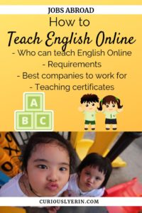 Find out how you can teach English online here. Who can teach English online and the requirements, the best companies to work for and what teaching certificates you need #digitalnomad #teachenglishonline #workabroad #getpaidtotravel #tefl #englishteacher