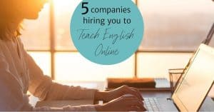 work and travel teach english online
