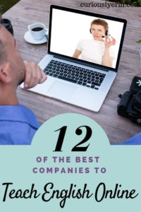 Here are 12 of the best companies to Teach English Online. Whether you live in North America or elsewhere in the world, be a native English speaker or have a bachelor degree. There is a company for you. Find out which company to do your TEFL certicate with and start teaching online now to become a digital nomad. #digitalnomad #teachenglishonline #workabroad #getpaidtotravel #tefl #englishteacher