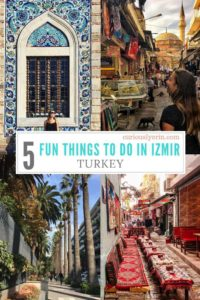 Don't miss out on visiting Izmir. The best bazaar in Turkey, incredible ancient ruins, a beautiful coastline and so much more. Read my top 5 budget friendly things to do in Izmir. #Izmir #Turkey #KemeraltiBazaar