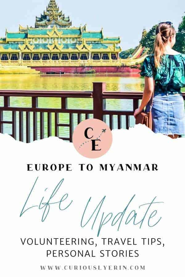 A little life update from the last 12 months between Europe and Myanmar and everything in between. Want to know why we are now expats in Myanmar and what I will be doing here? Click to read more. #expatsmyanmar #eurotrip #coupletravel #travelblogger