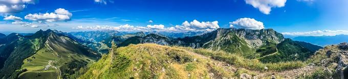 Mountain views hiking in switzerland