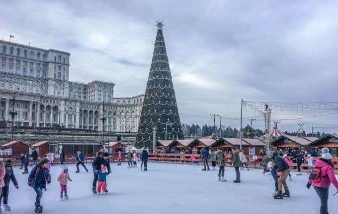Ice-skating at the Christmas markets