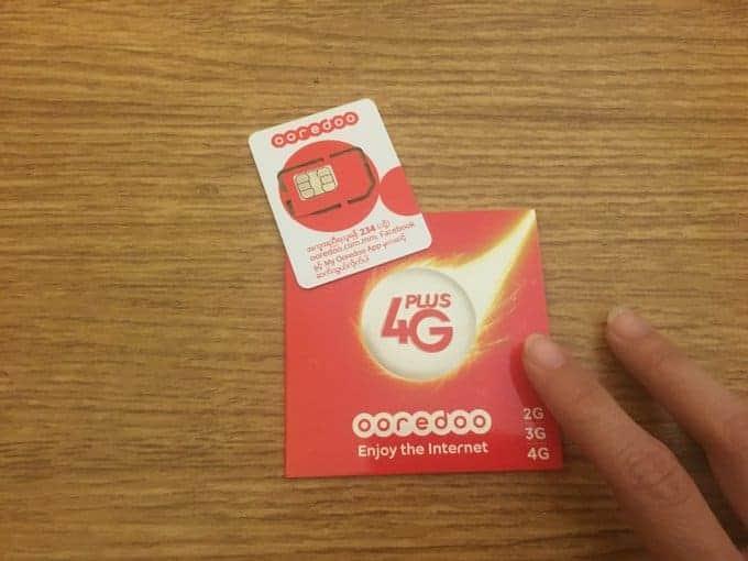 Ooredoo prepaid sim card