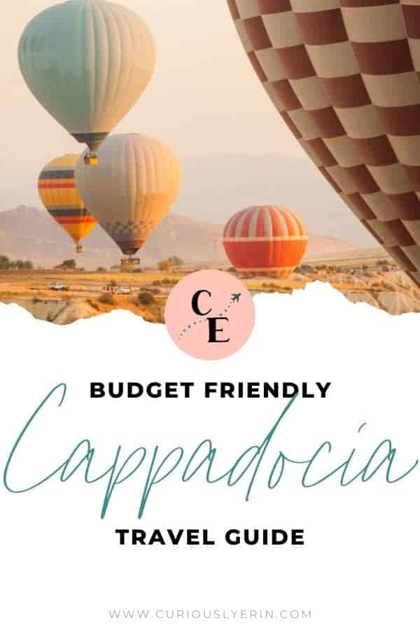 The Ultimate budget-friendly travel guide for Cappadocia, Turkey. Find out the top 10 things to do that are cheap but still fun! #cappadocia #turkey #travel #cappadociaballoon #adventure