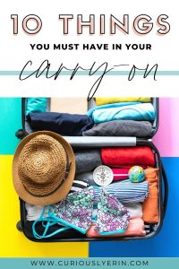 The essential carry-on packing list items that everyone should pack. Top 10 items for packing a bag for a long-haul flight without forgetting anything #packinglist #travel #traveltips #travelgear #carryonbagessentials