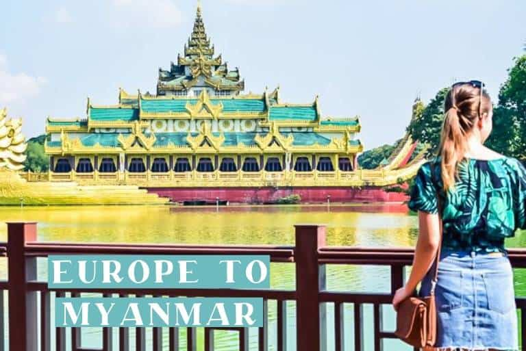Europe to Yangon Myanmar