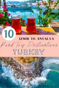 Make sure to add these Turkish Riviera destinations to your Turkey travel bucket list. The best Izmir to Antalya road trip. #travelturkey #turkeydestinations #mediterraneantravel #roadtripturkey
