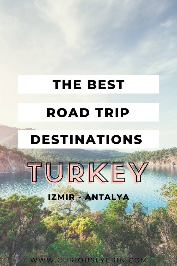 Visit Turkey's coastline for incredible beauty, history and outdoor activities. Follow this perfect itinerary for road trip destinations between Izmir and Antalya #travelturkey #turkeydestinations #mediterraneantravel #roadtripturkey