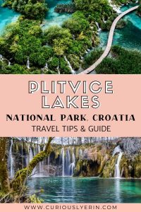 Complete guide to visiting Plitvice National Park in Croatia. This post details how to get to Plitvice, the best time of year to visit Plitvice Lakes, tours, park information, where to stay nearby and things to do inside Plitvice Lakes National Park #nationalparkseurope #croatiatravel #nationalparks