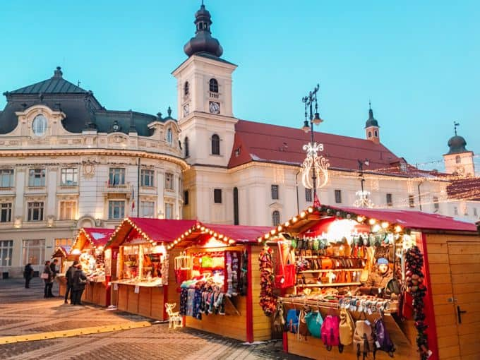 Sibiu's Christmas Market during the day