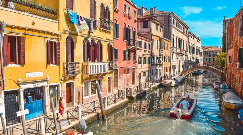 walking through Venice, Italy