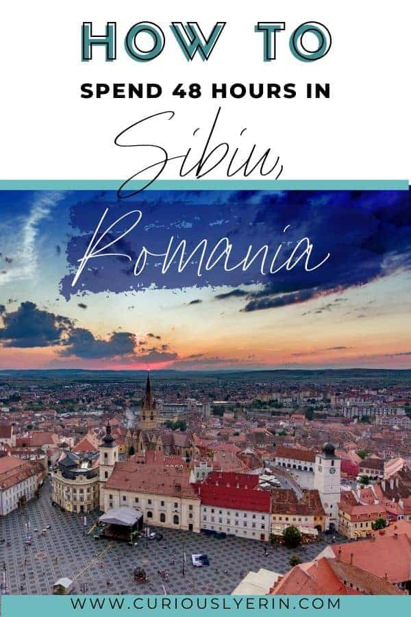 Visit Sibiu to experience Romania's Transylvanian charm and beauty. This historic city is a must for any budget traveller. With an old town datng back to the 12th century and winding cobbled lanes, read on for my guide on how to spend 48 hours in Sibiu. #easterneurope #budgettravel #travelitinerary #sibiuromania