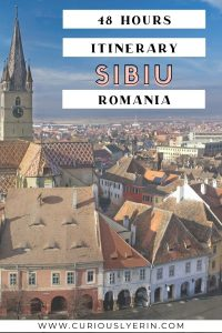 he best 2 day itinerary to visit Sibiu Romania and experience all of the city hightlights. Sibiu is home to one of the best Christmas markets in Europe #easterneurope #budgettravel #travelitinerary #sibiuromania