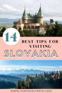 14 Slovakia Facts & Tips you need to know before you visit Slovakia. Make sure you read these to make your trip smooth, enjoyable and budget-friendly #travelslovakia #slovakiatips #bratislava #hightatras
