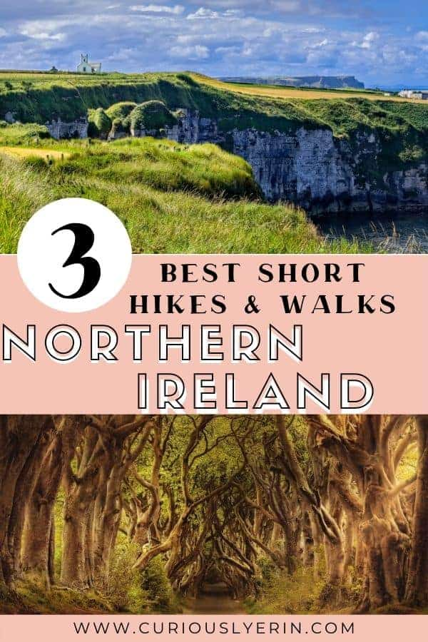 Click for the best short hikes and walks in Northern Ireland. Accessible in a day trip from Belfast. #northernirelandtravel #belfast #hikeuk
