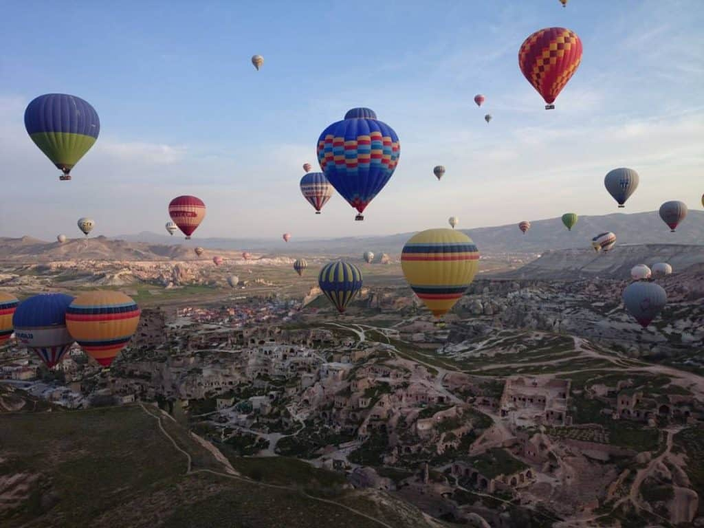 Fly in a hot air balloon in Cappadocia