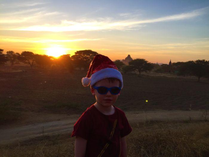 Senset on Christmas Day Myanmar