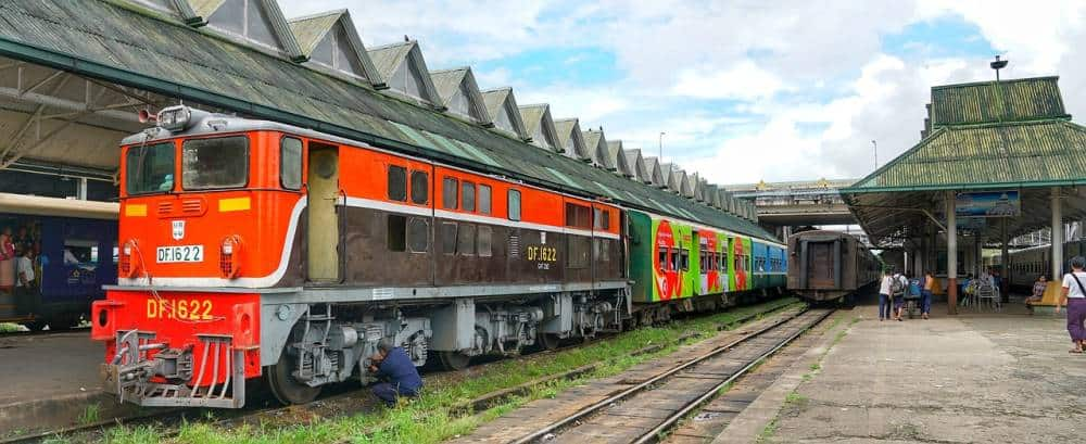 Catch the 3 hour circular train around Yangon