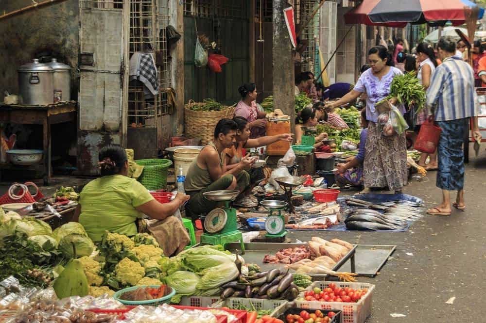 Add the street markets to your Yangon itinerary