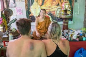 How to celebrate Christmas while travelling - Get San Yant Tattoos in Thailand