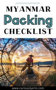 Packing list for Myanmar