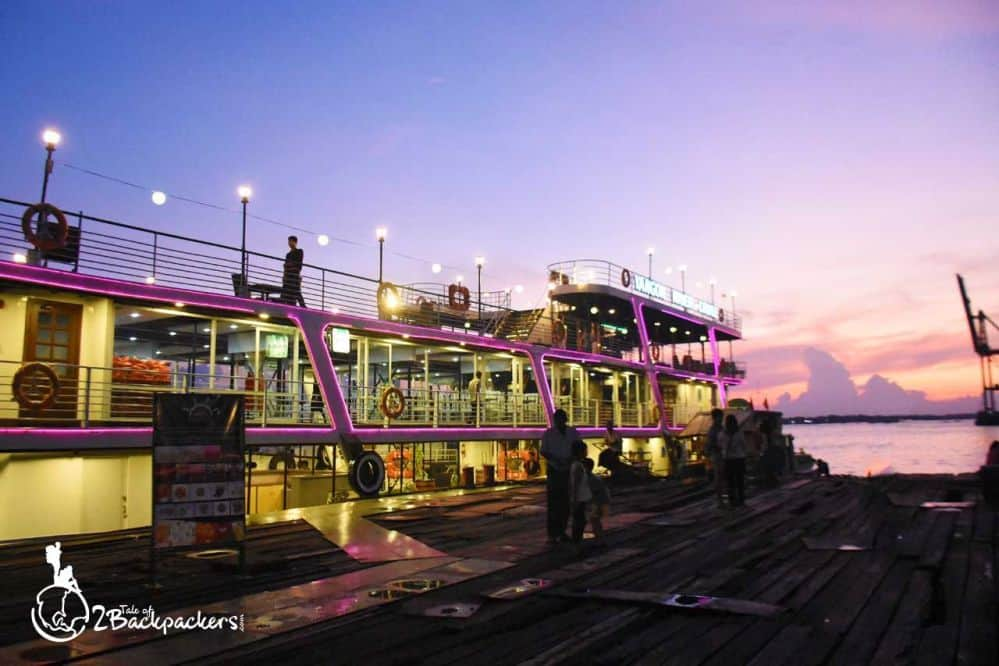 Sunset cruise in Yangon
