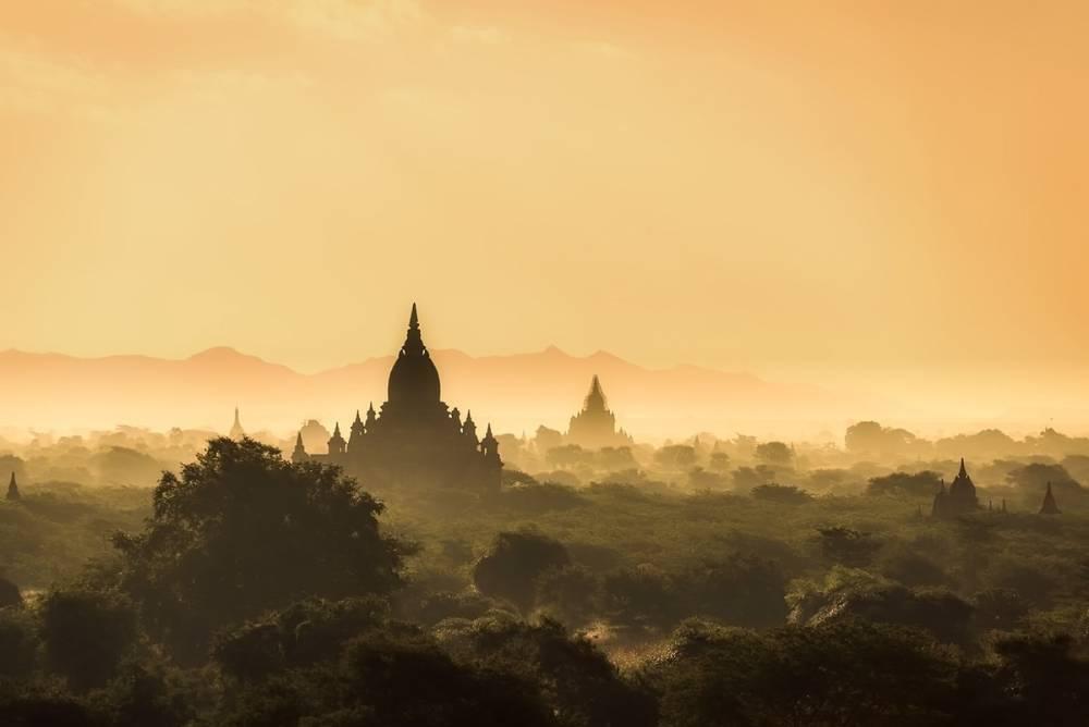 Temples in Bagan Myanmar