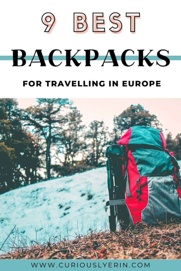 If you are trying to decide on the best backpack for Europe this guide will help you with 11 reviews from travel bloggers. The best backpacks for hiking in Europe, the best budget backpacks, backpacks for women and unisex bags. There is a buying guide and links to each backpack. #packing #bestbackpacks #Europe #backpacking #travelbackpack