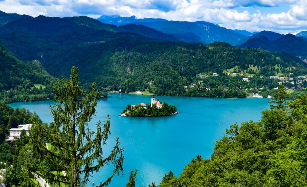 Lake Bled island viewpoint