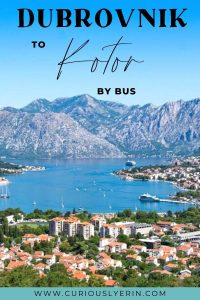 How to get from Dubrovnik to Kotor by bus. Find out all the tips and information at each bus station, cost of tickets, length of journey, border crossing info and more. #dubrovniktokotor #gettingaroundcroatia #croatiatravel