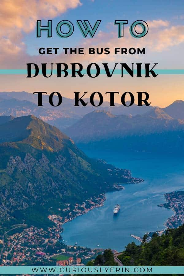 Complete guide to getting the bus from Dubrovnik to Kotor. Use this guide to seamlessly travel to Montenegro from Croatia. #dubrovniktokotor #kotormontenegro #dubrovnikcroatia