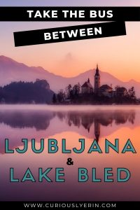 If you are travelling between Ljubljana and Lake Bled make sure you read this guide on how to best take the bus between the two destinations. This guide will give you all the information you need to buy bus tickets, locate the bus stations, decide if its best to take the bus or train to Lake Bled and more #lakebledslovenia #sloveniatravelljubljana #europetransportation #lakebledsummer