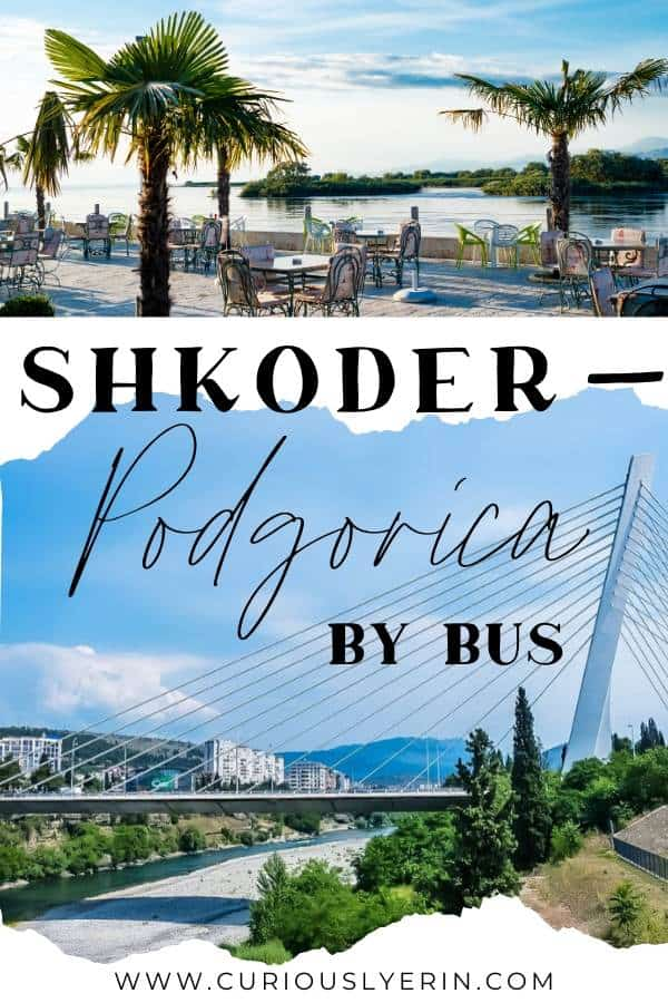 Take the bus between Shkoder and Podgorica. Use this guide to find the quickest, cheapest ways between the two Balkan cities. Get border crossing and trip info, find booking sites and tips to make this short journey as easy as possible. #shkoderalbania #balkantravel #balkanbackpacking #montenegrotravel #albaniatravel