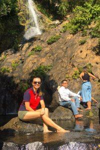 Climbing Done waterfall