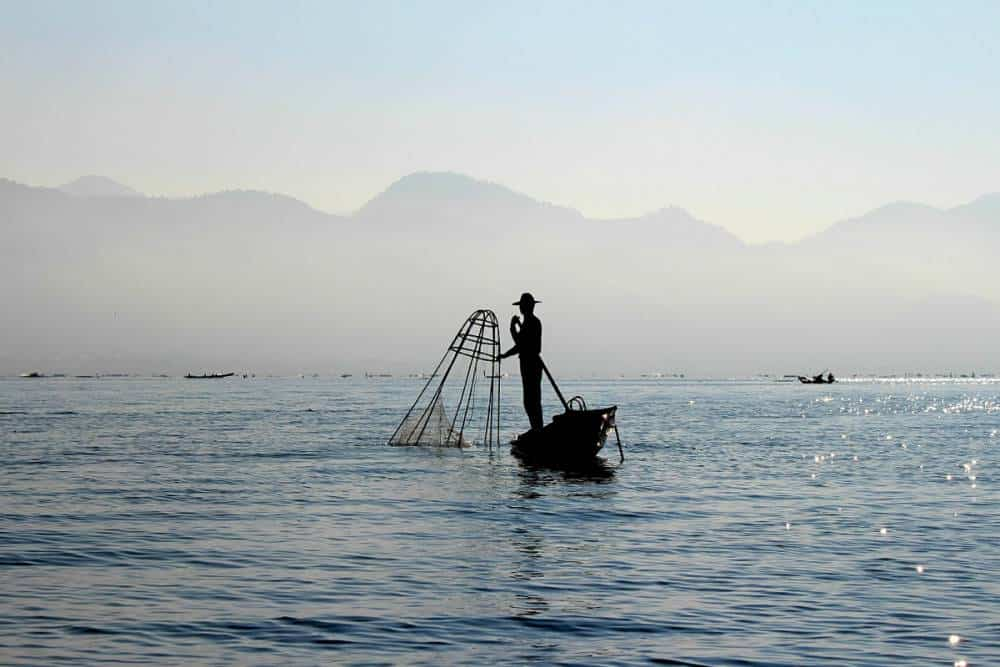Fisherman on on Inle Lake