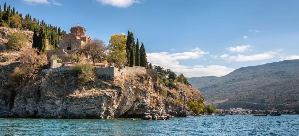 Views of the monastery from the water